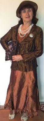 Карнавален костюм - Ретро дама - кафява