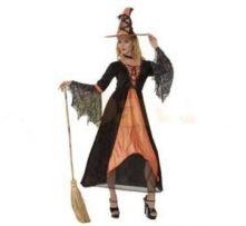 Карнавален костюм - Вещица-оранжева