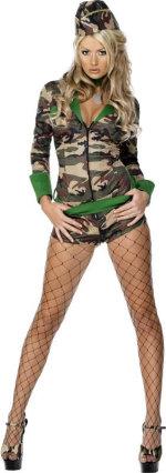 Карнавален костюм - Секси Войничка