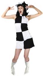 Костюм - черно и бяло 60-те