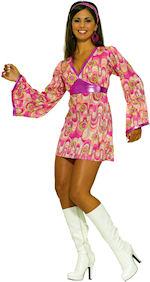 Костюм рокля на цветя 60-те