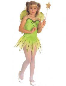 Детски костюм - малка зелена Фея Tinkerbell