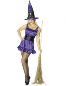 Карнавален костюм Секси (Sexy) Лилава Вешица