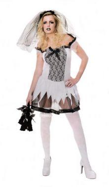 Карнавален костюм Зловещата Булка - Секси