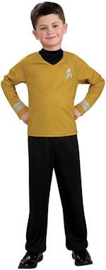 Детски костюм - Капитан от Star Trek - златен
