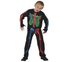 Карнавален костюм Скелет - разноцветен