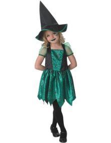 Карнавален костюм Вещица зелена