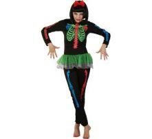 Карнавален костюм Скелетка - разноцветна