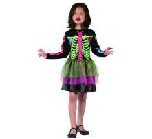 Карнавален костюм Сладка Скелетка - разноцветна