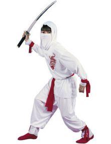 Карнавален костюм Нинджа бяла с Дракон