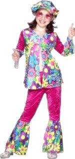 Детски костюм -  цветното Хипи