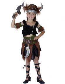 Детски момичешки костюм -  Викинг