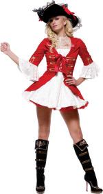 Карнавален костюм Капитан Пиратка Лукс