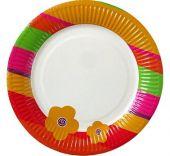 Картонена чиния с цвете
