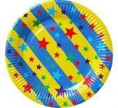 Картонена чиния със звезди
