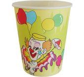 Картонена чаша с клоун