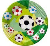 Картонена чиния с футболни топки
