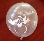 """Балони с гълъбчета и сърчица 12""""- 30см."""