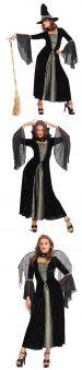 Карнавален костюм 3 в 1 Вампирка, Вещица и Черен Ангел