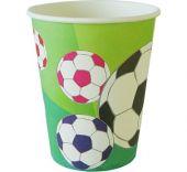 Картонени чаши с футболни топки