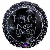 """Фолиен Балон 18""""(46cм.) Happy New Year"""