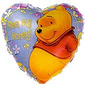 """Сърце с надпис Bee My Honey Мечо Пух ( Pooh)  18""""- 45 см."""