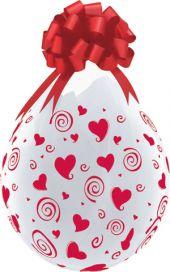 """Балони за подаръци на червени сърца 18"""" - 45см"""