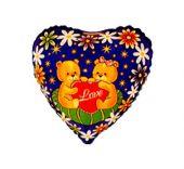 """Сърце с цветя, мечета и надпис LOVE  18""""- 45 см."""