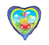 """Сърце с кола, мечета и надпис I LOVE YOU  18""""- 45 см."""