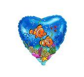 """Сърце със забавни рибки  18""""- 45 см."""