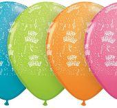 Балон Happy Birthday (Честит Рожден Ден)  с конфети  11'' (28см.)