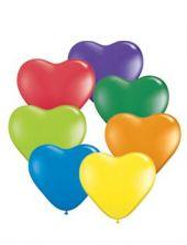 """Латексови балони 6""""/ 15 cm във формата на сърце - многоцветни"""