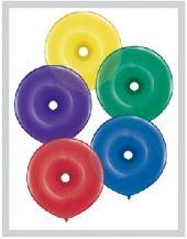 """Латексови балони 16"""" / 40 cm във формата на кръг с дупка - асорти (Radiant Donut)"""