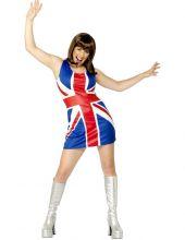 Костюм рокля с Британското знаме