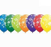 Балони Космос с НЛО  - асорти 11'' (28см.)