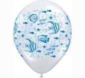 Балони прозрачни - Морско дъно 11'' (28см.)