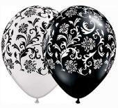 Балони Бели и Черни оникс - дамаска 11'' (28см.)