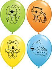 Балони с животинки  - асорти 11'' (28см.)