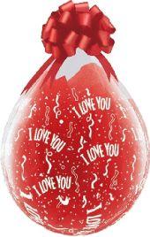 """Балони за подаръци  с надпис I Love You 18"""" - 45см"""