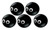 Балон Очи  5'' (13см.) черен оникс