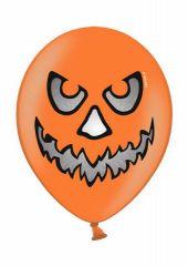 """Балони оранжеви със страшни лица - Тиква  Пастел 12"""" - 30.50см."""