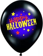Балони Черни оникс с надпис Happy Halloween 11'' (28см.)