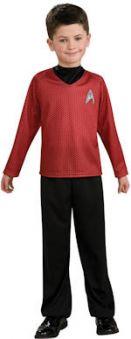 Детски костюм - Капитан от Star Trek - червен