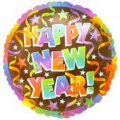 "Балон с надпис Happy New Year! 18"" - 46см."