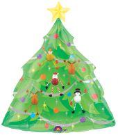 "Коледна елха с играчки 42"" - 107см."