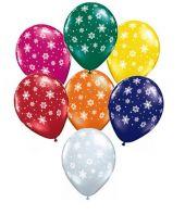 Балони със звезди - асорти 11'' (28см.)