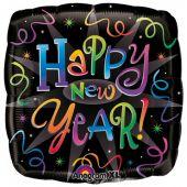 "Балон с надпис Happy New Year! 18"" - 46см.- цветен"