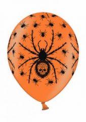 """Балони оранжеви с паяци Пастел 12"""" - 30.50см."""