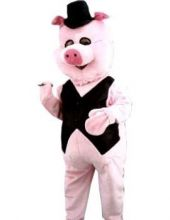 Карнавален маскот костюм - Г-н Прасе Mr Pig ЛУКС