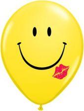 Балон Усмихнато лице с целувка 11'' (28см.)